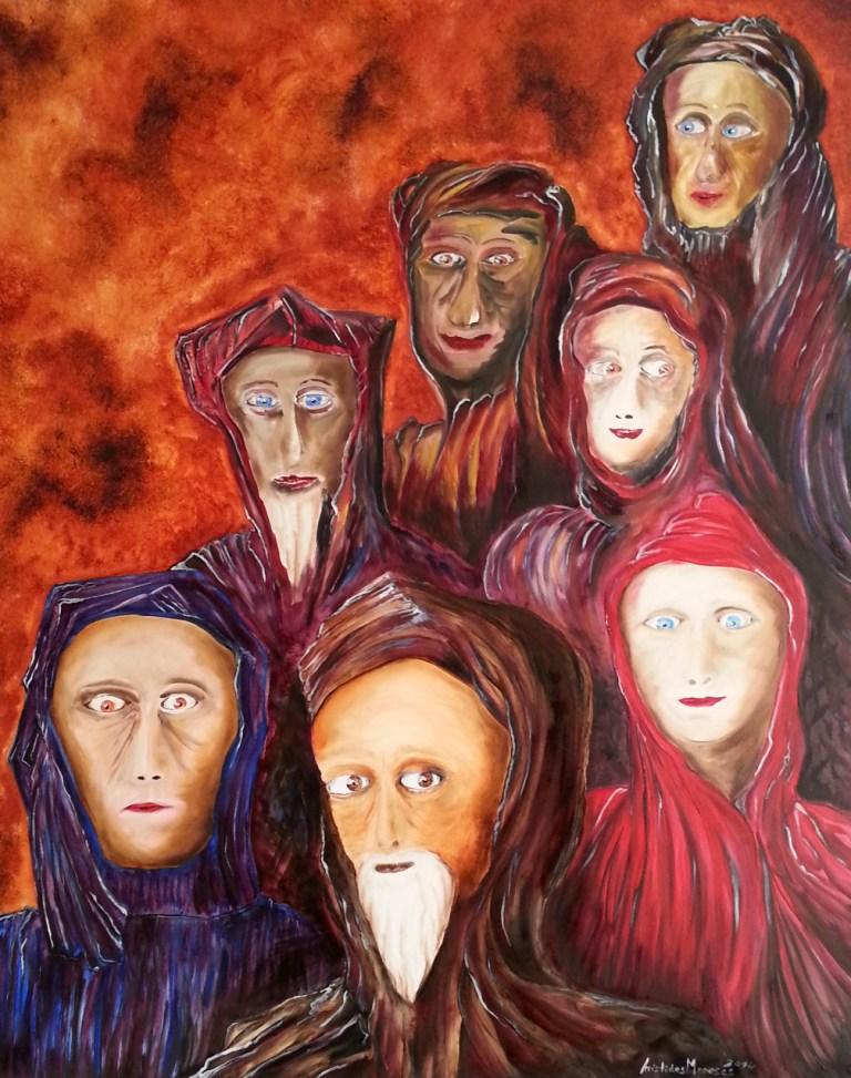 Chegada do grupo de máscaras