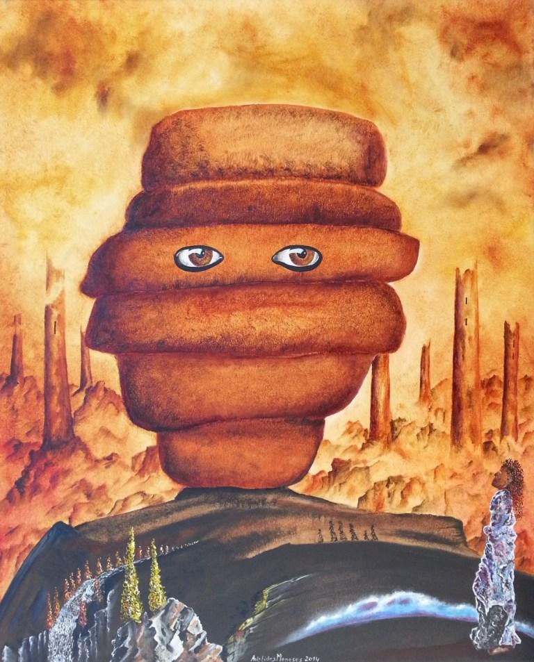 Retrato pão de forma