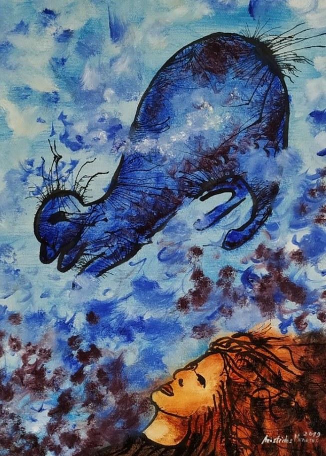 Alice e o gato azul